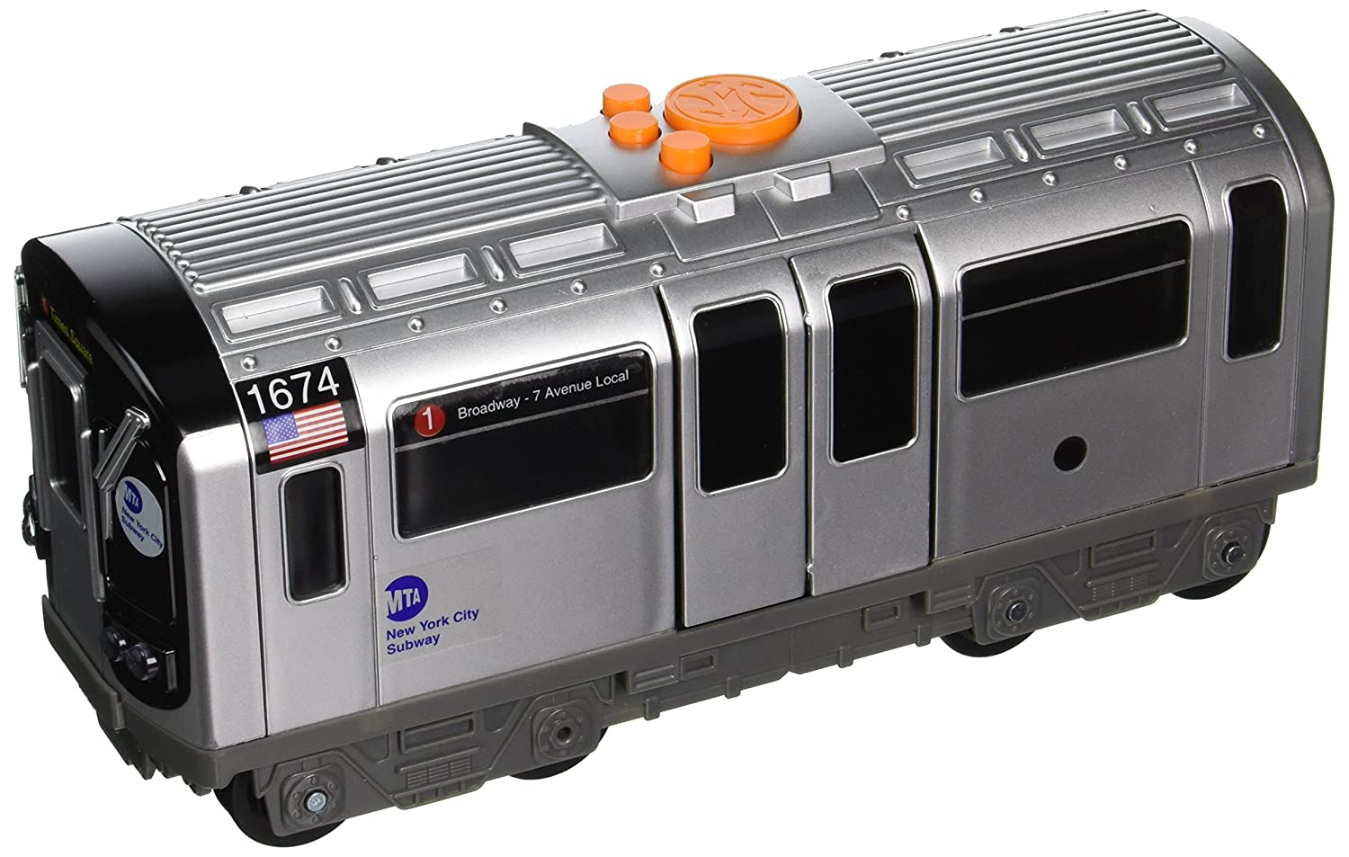 amazon com daron mta motorized subway car with lights sound