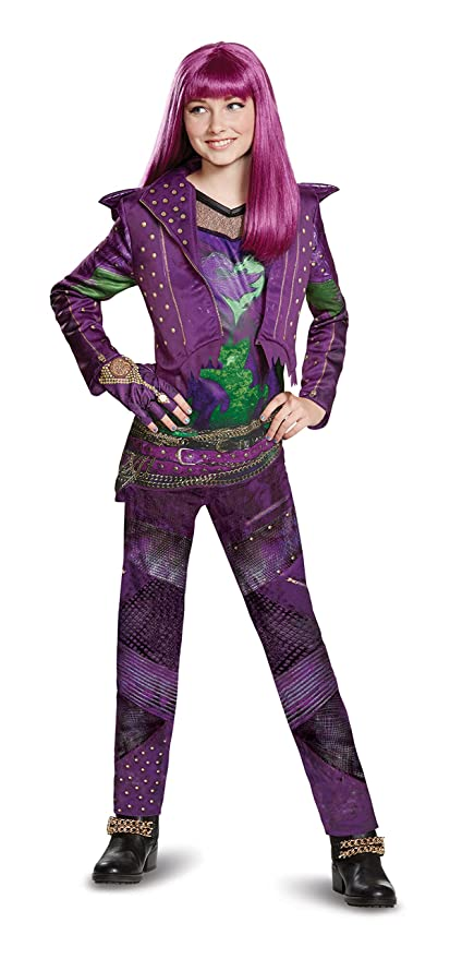 disney mal deluxe descendants 2 costume purple large 10 12