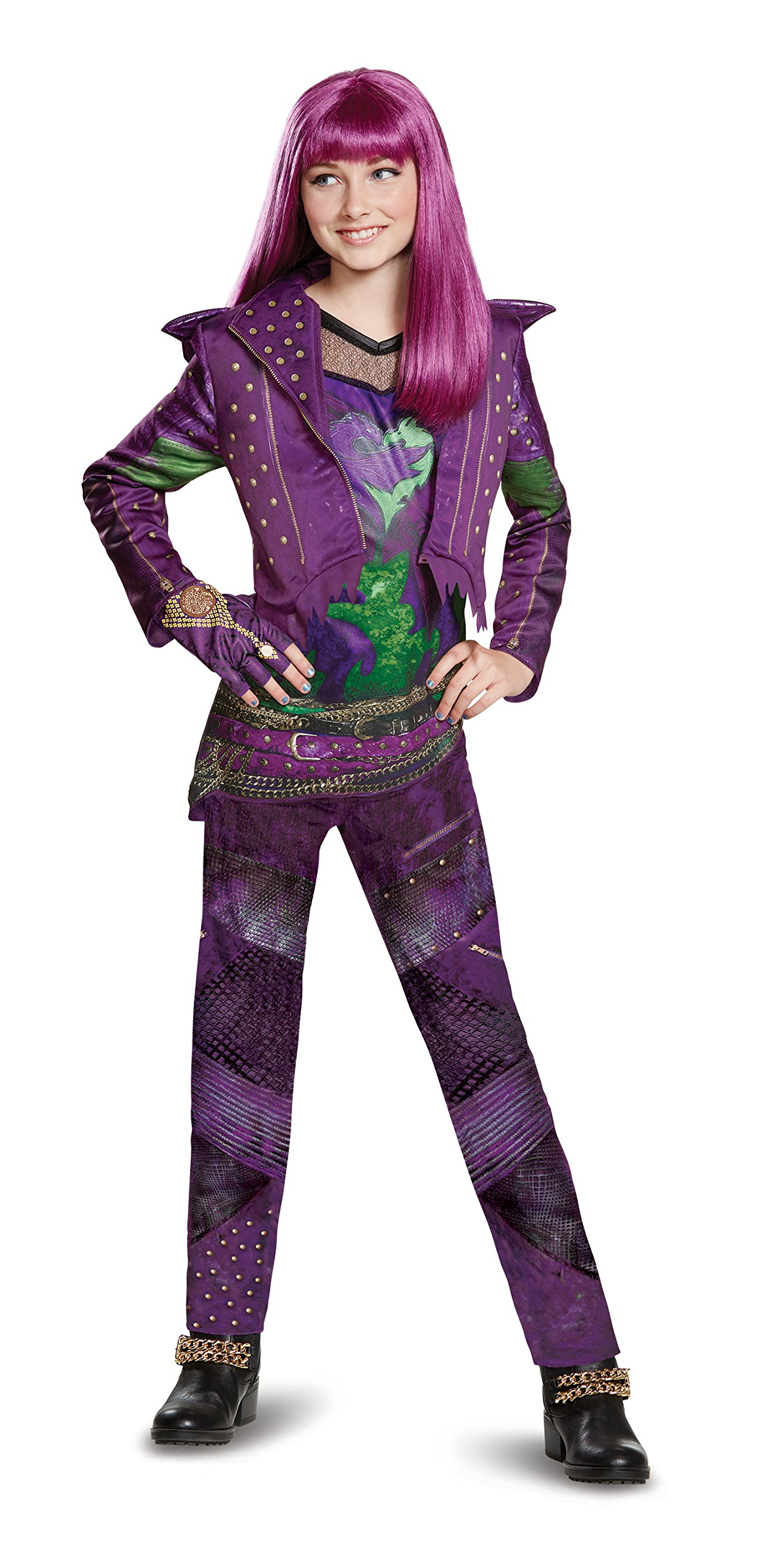 Disney Mal Deluxe Descendants 2 Costume, Purple, Large (10-12)