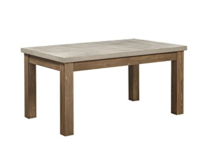Amazon Com Acme Furniture 71740 Parker Dining Table Concrete Gray