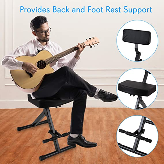 Astonishing Portable Adjustable Musician Performer Stool Folding Musicians Performance Chair Drum Guitarist Keyboard Throne W Adjustable Padded Cushion Seat Onthecornerstone Fun Painted Chair Ideas Images Onthecornerstoneorg