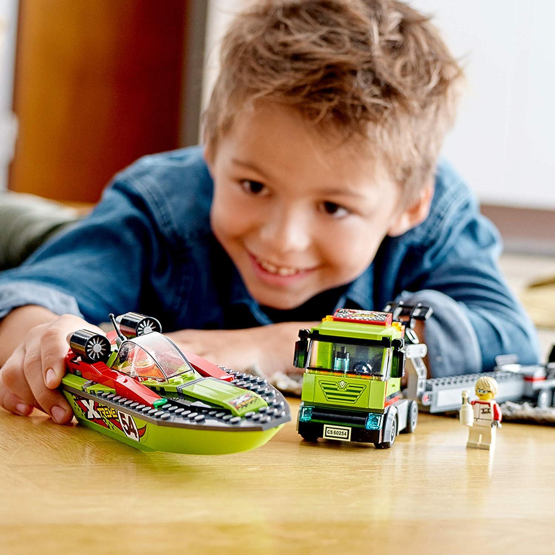 238pcs LEGO City Great Vehicles 60254 Race Boat Transporter Age 5