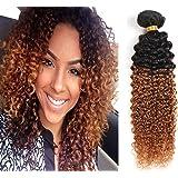 YAMI 7a 2 Tone Jerry Curl Ombre Hair Weaves Brown Color 1B 30 Brazilian Human Hair 3 pcs lot Brazilian Jerry Curly Hair Bundles 300g Wavy Hair 1B 30