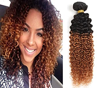 Amazon 7a two tone jerry curl ombre hair weaves brown color 7a two tone jerry curl ombre hair weaves brown color 1b 30 brazilian human hair 3 pmusecretfo Images