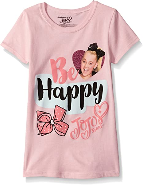 Cotton JoJo Siwa Girls Top Short Sleeve T Shirt Tee Be Your Own Star Size 4-12