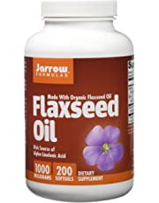 Jarrow Formulas Flaxseed Oil, Supports Cardiovascular Health, 1000 mg, 200 Softgels