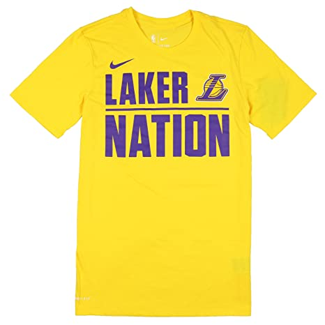80020b0340935 Amazon.com: Nike Men's Los Angeles Lakers Laker Nation T-Shirt Small ...