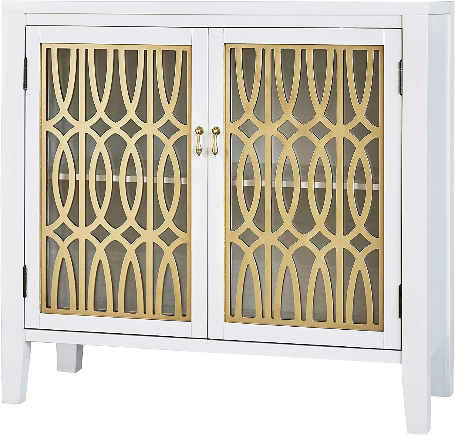 Coaster Home Furnishings CO-953250 Accent Cabinet, White and Gold