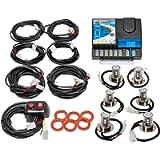 Wolo (8506-30-2B4R) NexGen 40 Watt Power Supply Gen 3 Emergency Warning LED Six Head Kit - 2 Blue LED Heads, 4 Red LED…