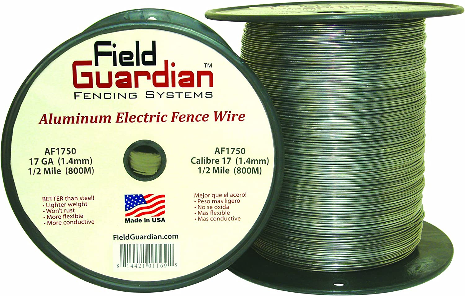 Aluminum Wire 12-1//2 Gauge Electric Fence 1//4 Mile Heavy Duty Outdoor Livestock