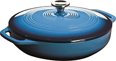 Lodge 3.6 Quart Enamel Cast Iron Casserole Dish