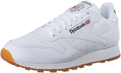 official photos ef61c 21fc6 Reebok Mens Classic Leather Sneaker, WhiteGum, ...