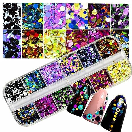 pegatinas uñas, Sannysis pegatinas para uñas de arte 3D colorido Maquillaje, manicura, bricolaje