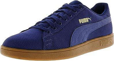 f92d9b3946c159 Puma Men s Smash V2 Ripstop Blue Depths Team Gold Ankle-High Fashion  Sneaker -