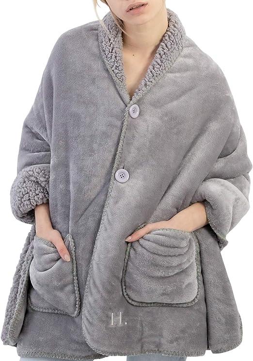 Catalonia Sherpa Wearable Blanket Poncho Wrap Blanket Cape Warm Soft Cozy Gift