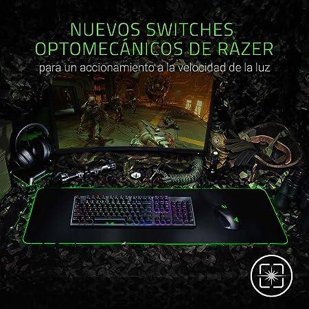 Razer Huntsman (Versión extranjera) Teclado con Switches Opto Mecánicos Mejorados, 1, Standard