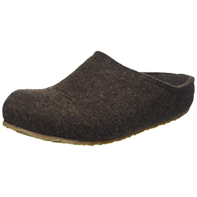 HAFLINGER Unisex Felt Clogs with Removable Footbed GZ Michel, Chocolate Brown: Shoes