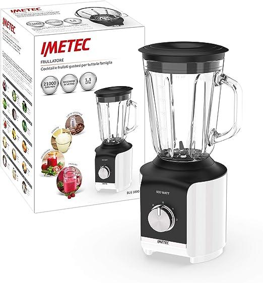 IMETEC Professional Serie BL 1000 - Batidora, vaso de vidrio, 500 ...