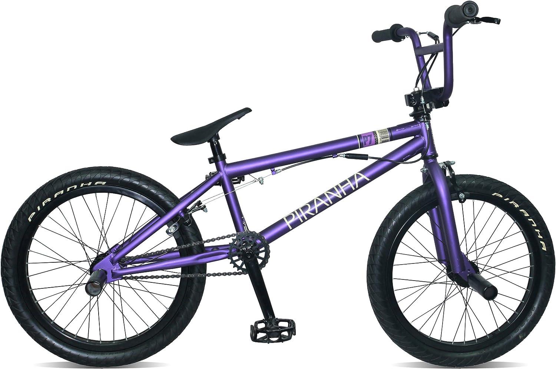 Piranha P7 - Bicicleta Infantil BMX para niño, para Todas Las Medidas a Partir de 135 cm, Color (Matt Purple): Amazon.es: Deportes y aire libre