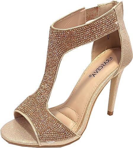 Ladies Diamante High Heel Sandals, T