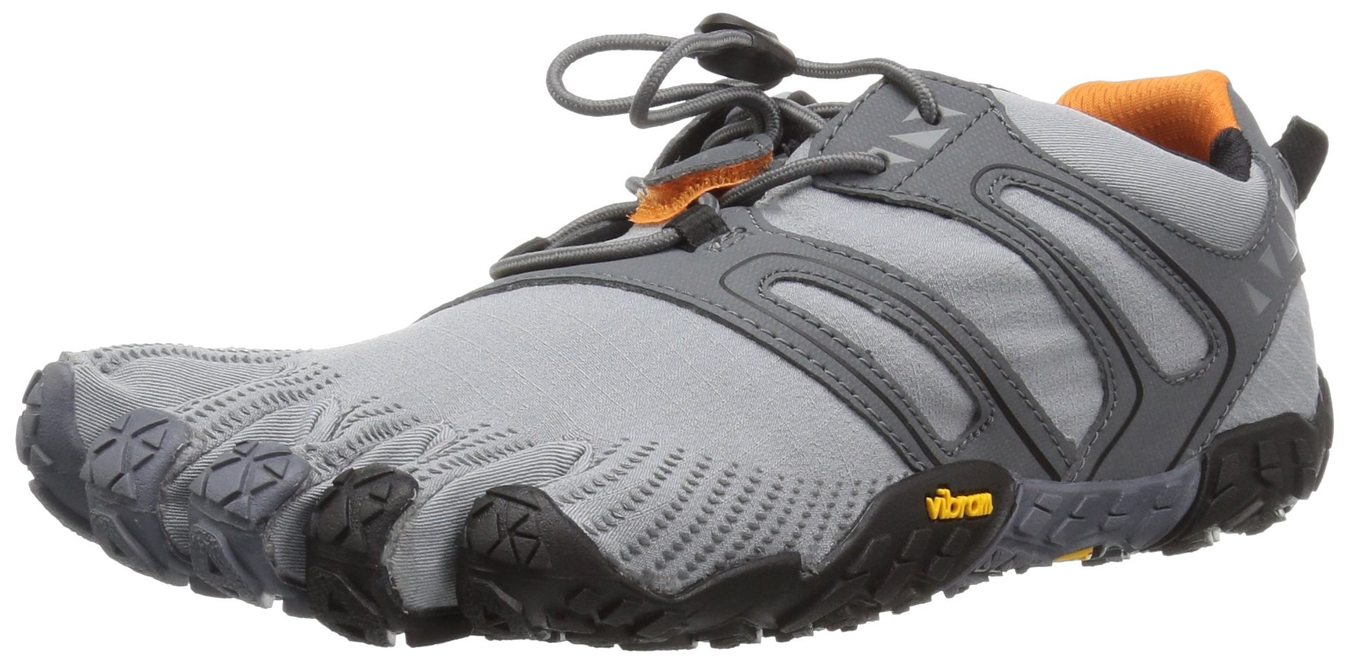 Vibram Men's V Trail Runner, Grey/Black/Orange, 9.5-10 M US/43 EU by Vibram