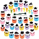 BakingWorld Vegetable Cutter Shapes Set,Stainless Steel Mini Fruit and Cookie Stamps Mold for Kids Baking and Food Supplement