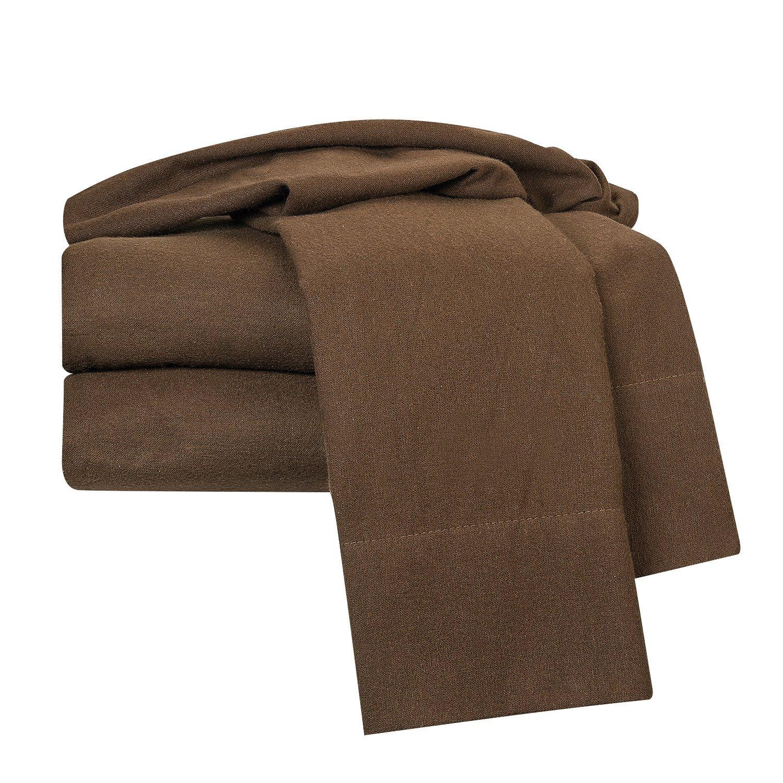 Clara Clark 100-Percent Egyptian Cotton Flannel 4-Piece Bed Sheet Set Luxurious