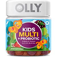 OLLY Kids Multi + Probiotic Gummy Multivitamin, 35 Day Supply (70 Count), Yum Berry Punch, Vitamins A, C, D, E, B, Zinc…