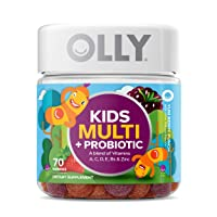 OLLY Kids Multi + Probiotic Gummy Multivitamin, 35 Day Supply (70 Count), Yum Berry...