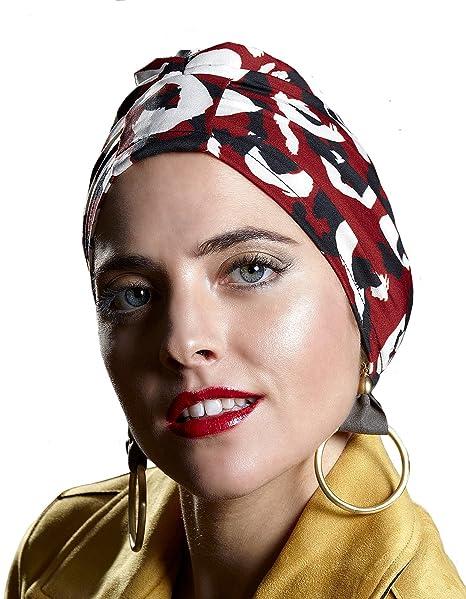 Belle Turban Safir P, Pañuelo para la Cabeza para Mujer, Multicolor (Manchas)