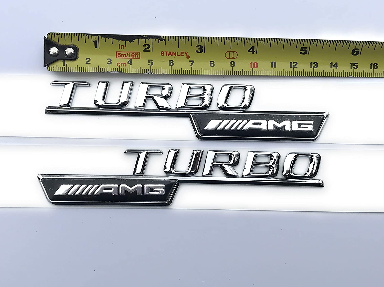 Gemmry Auto Emblem Logo f/ür AMG Turbo Wing A45 CLA 45 C63 E63 ML55 ML63 Letter Metal Autogitter Kofferraum hinten Heckklappe Aufkleber Aufkleber Auto-Styling Zubeh/ör