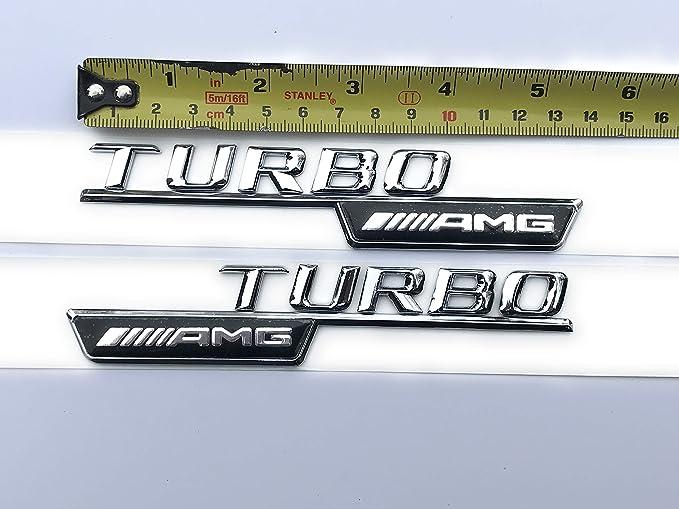 Amg Turbo Kotflügel Emblem Logo A45 Cla 45 C63 E63 Ml55 Ml63 Auto