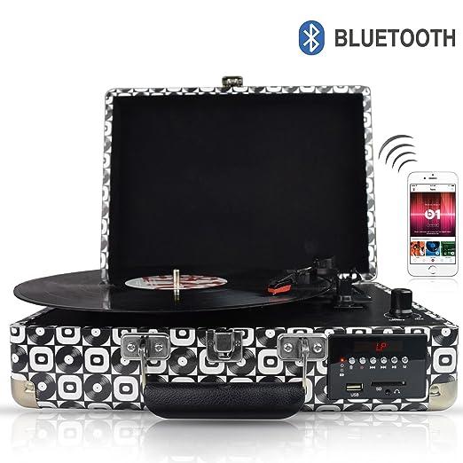 3 opinioni per DigitNow! Giradischi Bluetooth con funzioni, FM Radio and Aux in e Lettura USB &