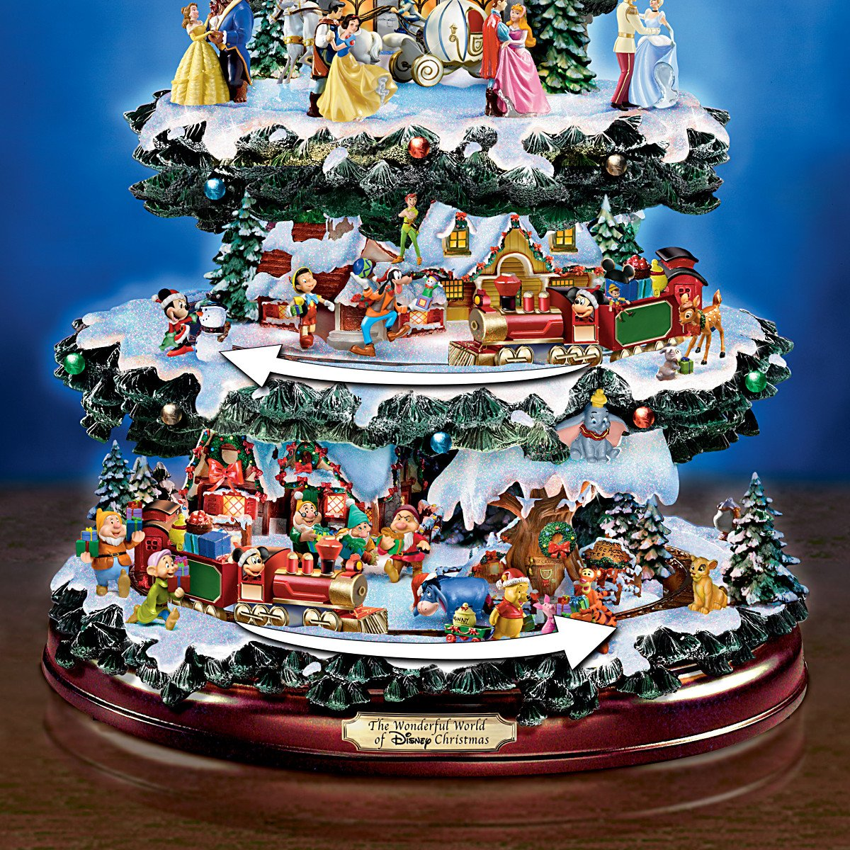 Disney Outdoor Christmas Decorations - Amazon com disney tabletop christmas tree the wonderful world of disney by the bradford exchange home kitchen