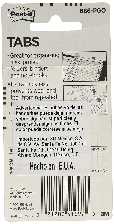 Post-it Tabs 36/linguette per dispenser 66 Tabs Assorted Primary Lined solido 12/linguette per colore