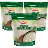 Shredded Large Coconut Flakes (Coconut Chips) Organic Keto Unsweetened 8 Ounce Bag (Pack of 3) Gluten Free Sugar Free Great T