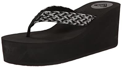 0d74d74617501 Roxy Women s Havana Wedge Sandals Flip Flop