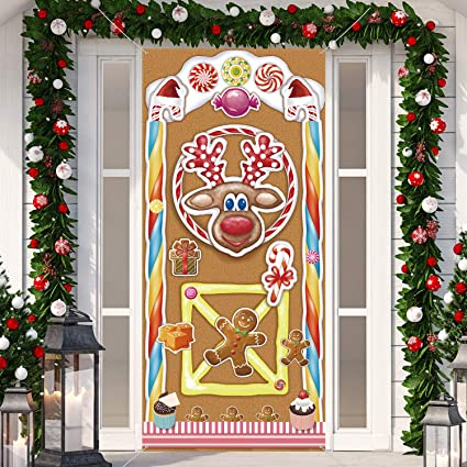 Amazon Com Christmas Decorations Large Fabric Colorful