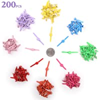 8x12 mm//200 pcs Penta Angel Mini Brads 200Pcs Assorted Colors Paper Fasteners Round Brass Metal Pastel Brads for Scrapbooking Crafts DIY Projects 8x12mm