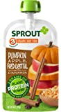 Sprout Organic Baby Food Pouches Stage 3 Sprout Baby Food, Pumpkin Apple Red Lentil with Cinnamon, 4 Ounce (Pack of 12); USDA Organic, Non-GMO, 3 Grams of Plant Powered Protein