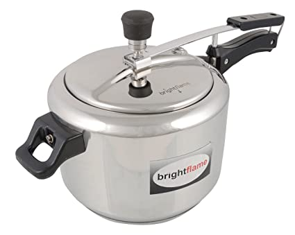 Brightflame Inner Lid Stainless Steel Pressure Cooker, 3 Liters, Silver, Induction Friendly