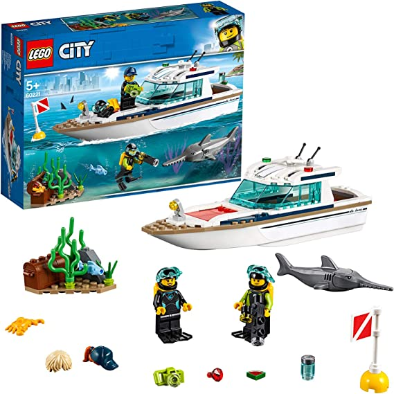LEGO City Great Vehicles - Yate de Buceo, juguete creativo de ...