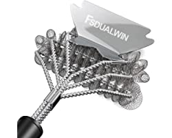 FSDUALWIN BBQ Grill Brushes, 100% Rust-Proof High-Nickel 304 Stainless Stee,Universal and Perfectly Angled, for All Stainless