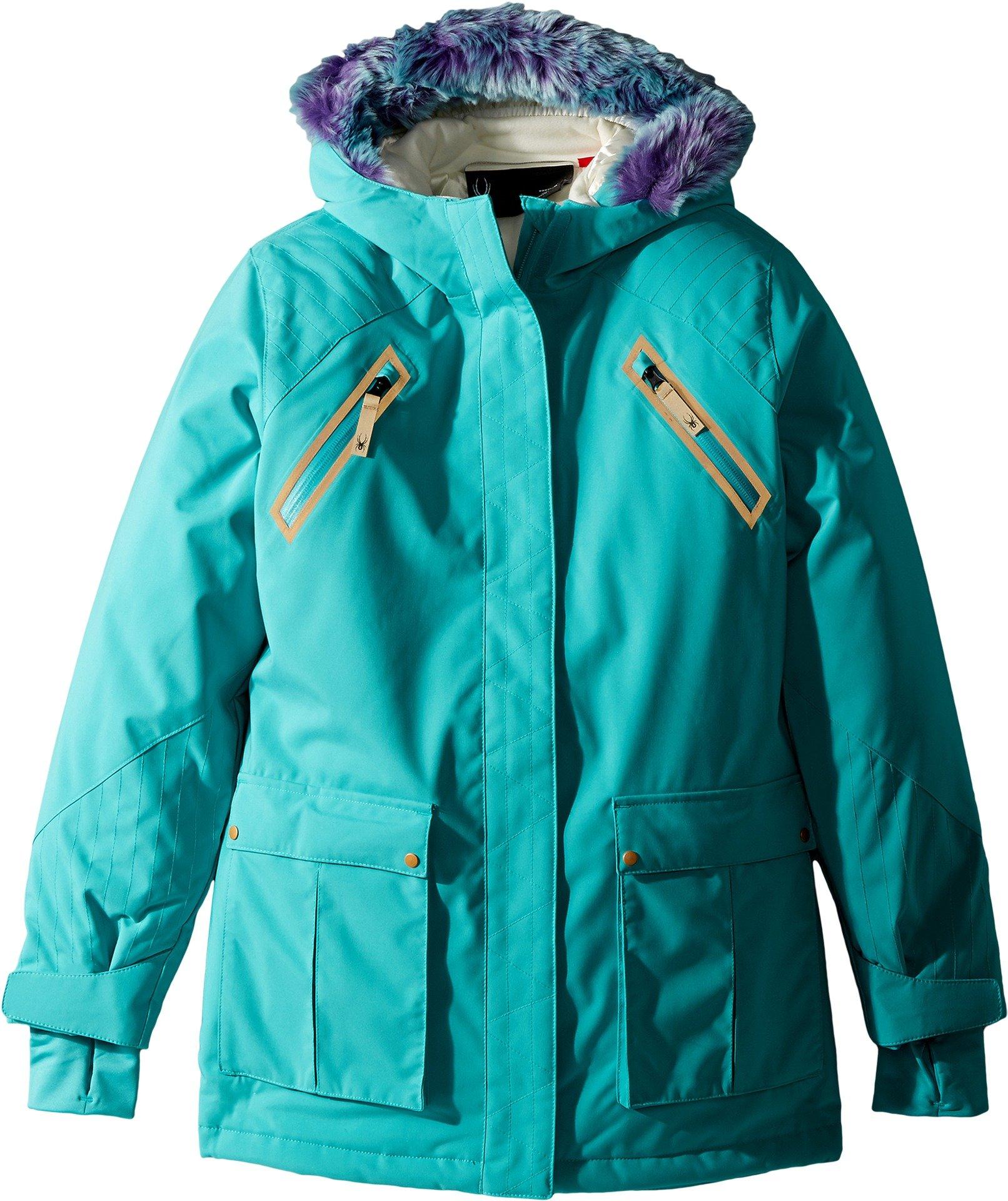 Spyder Kids Girl's Bella Faux Fur Jacket (Big Kids) Baltic 14
