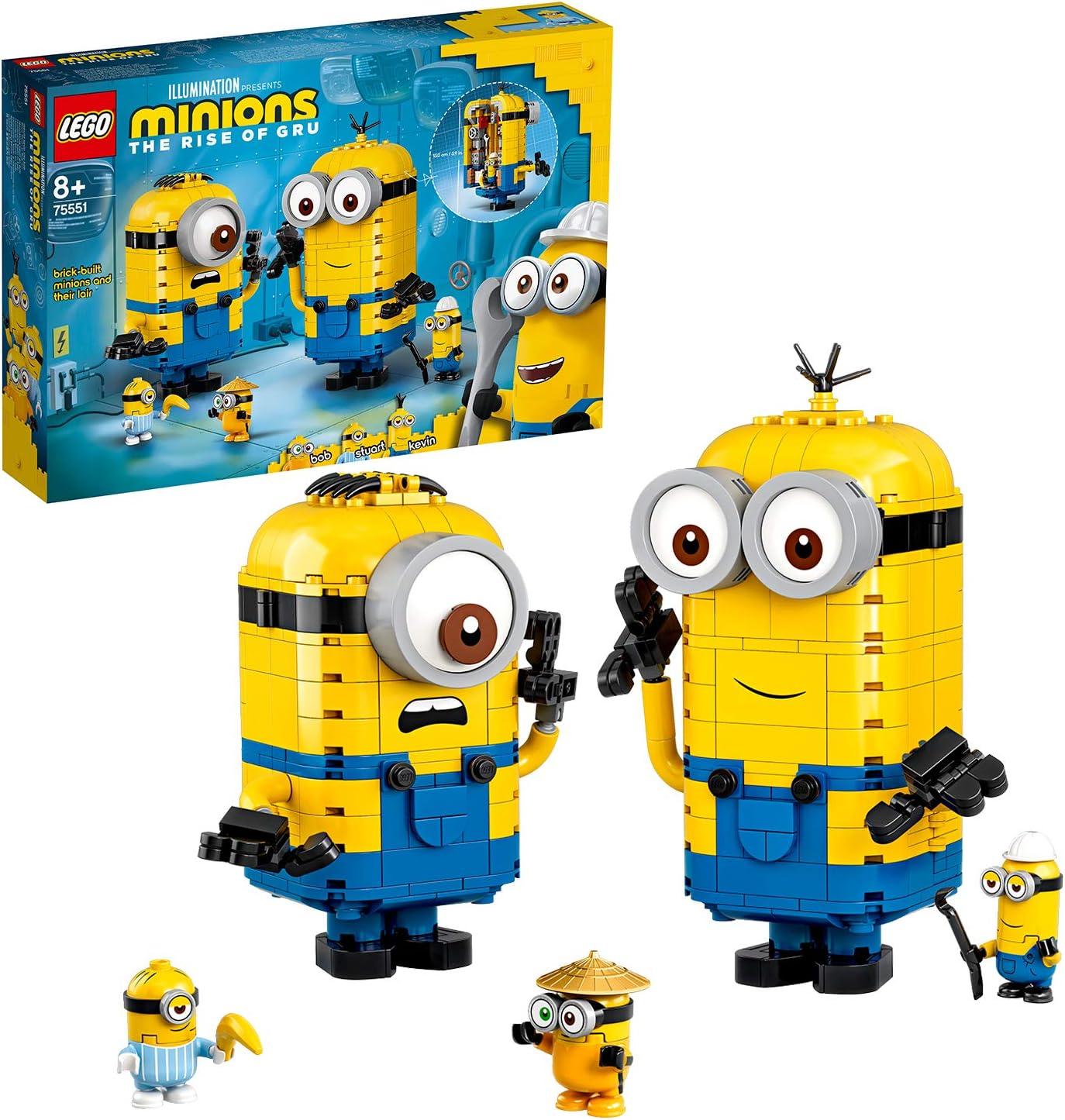 LEGO- Minions y su Guarida para Construir Juego de construcción, Multicolor (75551): Amazon.es: Juguetes y juegos