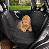 acelitor Deluxe Dog Seat Covers For Cars,Dog Car Seat Hammock Convertible,Universal Fit,Extra Side Flaps,Exclusive Nonslip,Waterproof Padded Quilted,