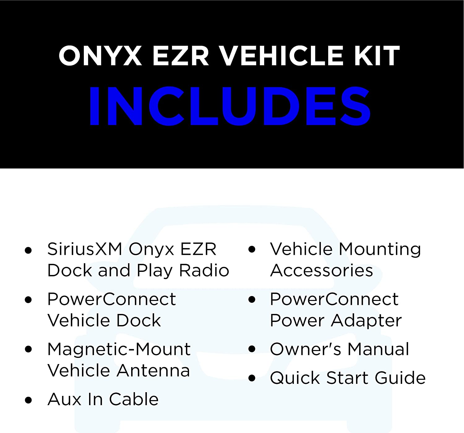 SXEZR1V1 GDISXTTR2 and SiriusXM Wi-Fi Table Radio SiriusXM All Access Bundle Includes Onyx EZR Vehicle Dock and Play