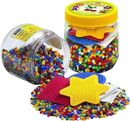 HAMA BEADS 2052 Kit de Mosaico - Kits de Mosaico (Multicolor, 4000 Pieza(s)): Amazon.es: Juguetes y juegos