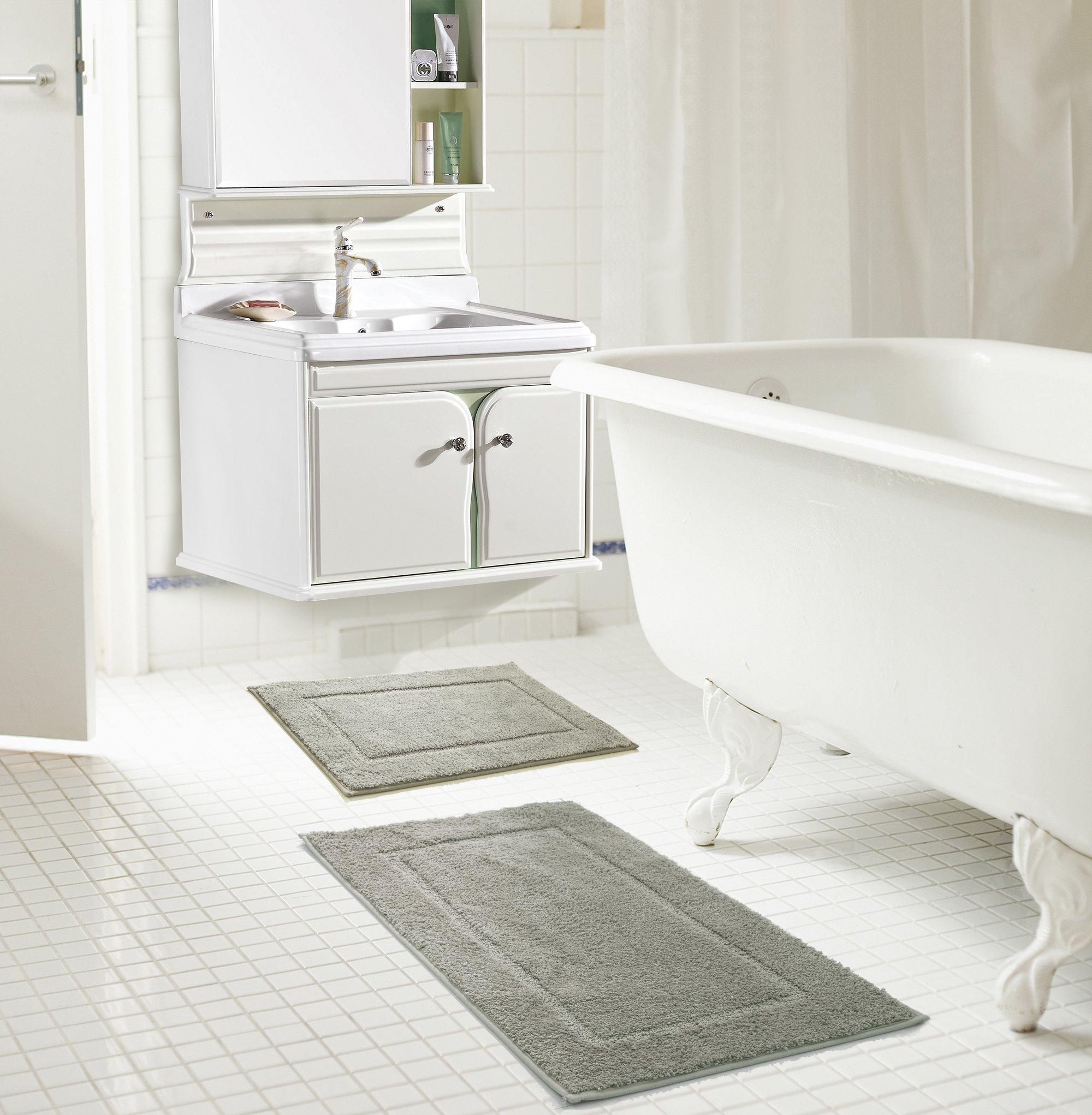 RT Designers Collection Derby Microfiber 2-Piece Bath Set in Bath Set, Silver
