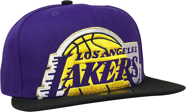 New Era Los Angeles Lakers Adjustable Snapback Hat 9Fifty NBA Basketball Flat Bill Baseball Cap LA